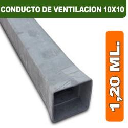 CONDUCTO DE VENTILACION 10X10X1,20 ML.