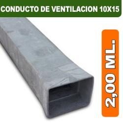 CONDUCTO DE VENTILACION 10X15X2,00 ML.