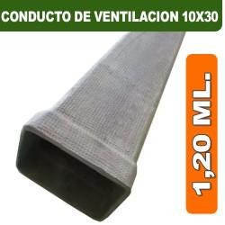 CONDUCTO DE VENTILACION 10X30X1,20 ML.