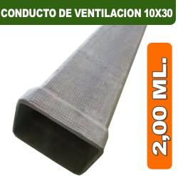 CONDUCTO DE VENTILACION 10X30X2,00 ML.
