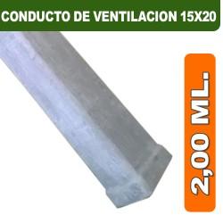 CONDUCTO DE VENTILACION 15X20X2,00 ML.