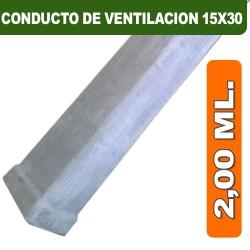 CONDUCTO DE VENTILACION 15X30X2,00 ML.
