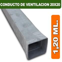CONDUCTO DE VENTILACION 20X20X1,20 ML.