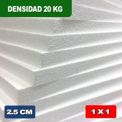 TELGOPOR DENSIDAD 20 kg 2,5 cm 1 x 1