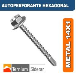 TORNILLO AUTOPERFORANTE HEXAGONAL METAL 14 por 1