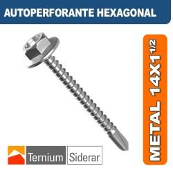 TORNILLO AUTOPERFORANTE HEXAGONAL METAL 14 por 1 1/2