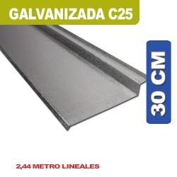 BABETA SOBRE CHAPA GALVANIZADA C25 30 cm x 2.44ML