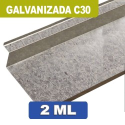BAJO CHAPA GALVANIZADA C30 X 2 ML