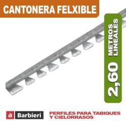 CANTONERA METÁLICA 31 FLEXIBLE X 2.60ML.