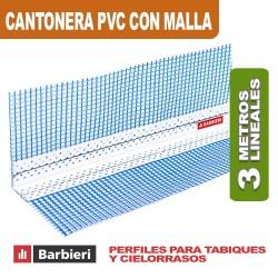 CANTONERA PVC 33MM CON MALLA X 3 MTS