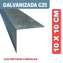 CENEFA EN L 10X10CM X 2.44 ML