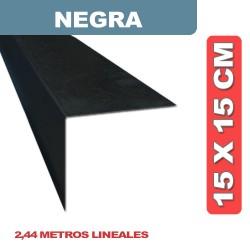 CENEFA NEGRA EN L 15X15 CM X 2.44 ML