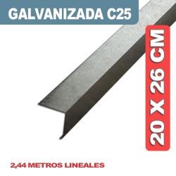 CENEFA DE CIERRE GALVANIZADA C25 20X26CM X 2.44 ML