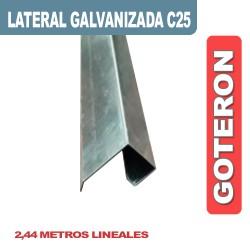 CENEFA LATERAL CON GOTERON GALVANIZADA C25 X 2.44ML