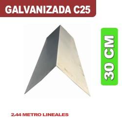 CUMBRERA 30 CM GALVANIZADA C25 X 2.44ML