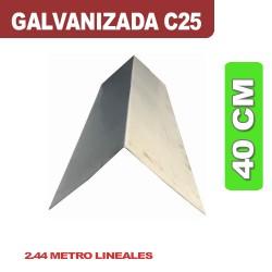 CUMBRERA 40 CM GALVANIZADA C25 X 2.44ML
