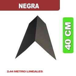 CUMBRERA 40 CM NEGRA LISA X 2.44 ML
