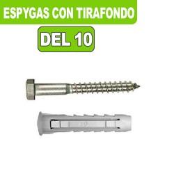 ESPYGAS DEL 10 CON TIRAFONDO 50 MM