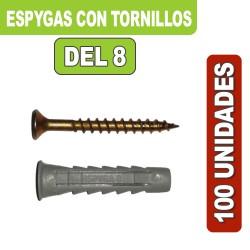 ESPYGAS DEL 8 CON TORNILLOS X 100 UNIDADES