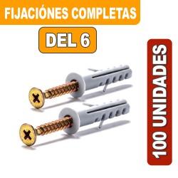 FIJACIONES DEL 6 COMPLETAS X 100 UNIDADES