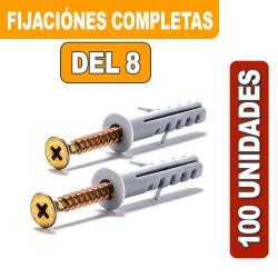 FIJACIONES DEL 8 COMPLETAS X 100 UNIDADES
