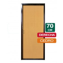 PUERTA PLACA CEDRO 70CM X 2Mts X 10CM DERECHA
