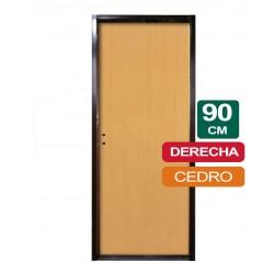 PUERTA PLACA CEDRO 90CM X 2Mts X 10CM DERECHA