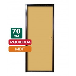 PUERTA PLACA MDF 70CM X 2Mts X 10CM IZQUIERDA