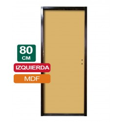 PUERTA PLACA MDF 80CM X 2Mts X 10CM IZQUIERDA