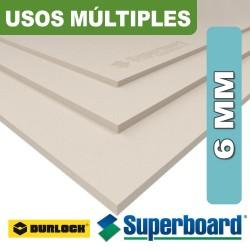 SUPERBOARD 6 MM 1,20 X 2,40 USOS MULTIPLES