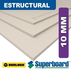 PLACA DE CEMENTO SUPERBOARD ESTRUCTURAL 10MM 1,20 x 2,40 mts