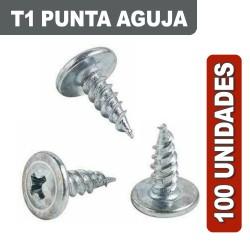 TORNILLOS T1 AGUJA X 100 UNIDADES