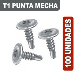 TORNILLOS T1 MECHA 8 X 1/2 X 100 UNIDADES