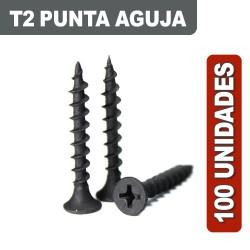 TORNILLOS T2 AGUJA 6 X 1 X 100 UNIDADES