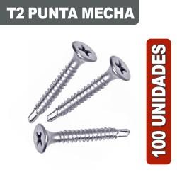 TORNILLOS T2 MECHA X 100 UNIDADES